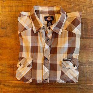 Dickies snap-button short-sleeve shirt